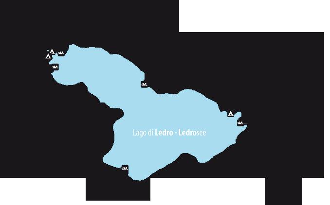 Bild zeigt die Karte vom Ledrosee